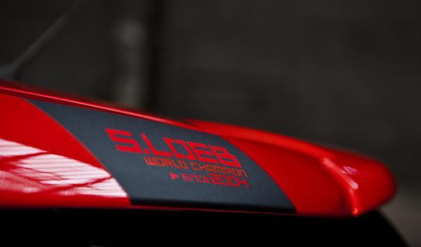 Citroën DS3 Racing S. Loeb detalle conmemorativo