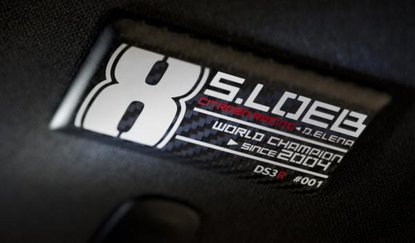 Citroën DS3 Racing S. Loeb placa 8 títulos