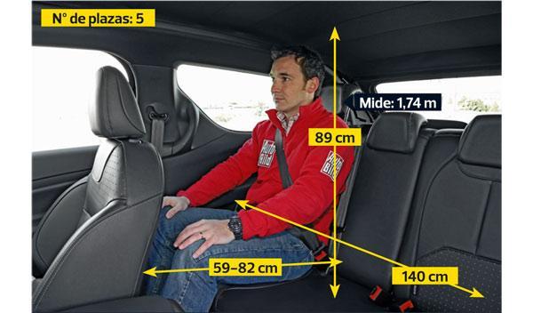 Citroën DS3 Cabrio plazas traseras