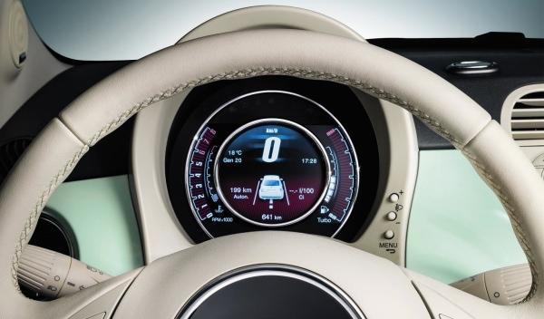 La pantalla TFT del Fiat 500 Cult ha sido desarrollada por Magnetti Marrelli