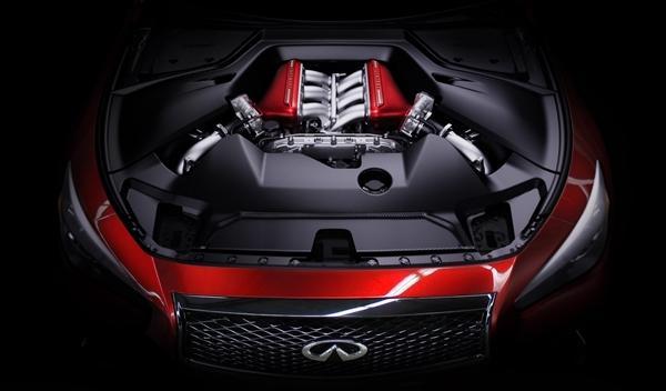 Infiniti Q50 Eau Rouge Concept motor en Ginebra 2014