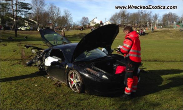 Ferrari 458 Italia siniestro