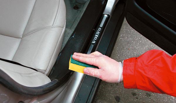 limpieza del coche estribos