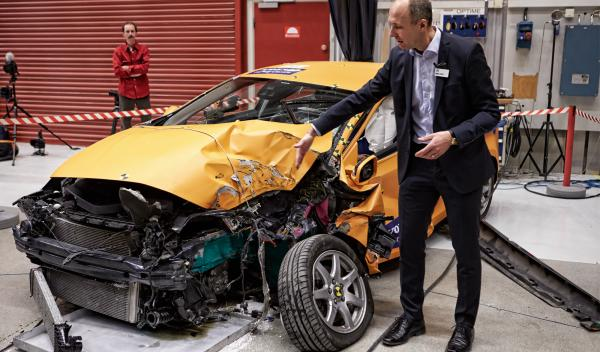 Estado del Volvo V40 tras el Crash Test