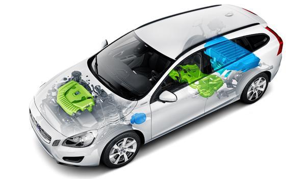Volvo V60 D6 híbrido motores