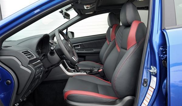 Asientos del Subaru WRX STI
