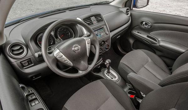 Nissan Versa Sedan interior
