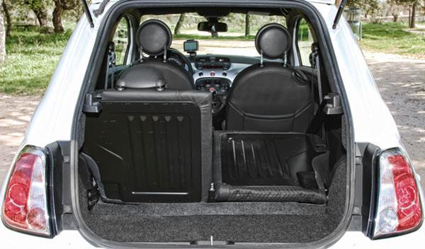 Maletero del Fiat 500