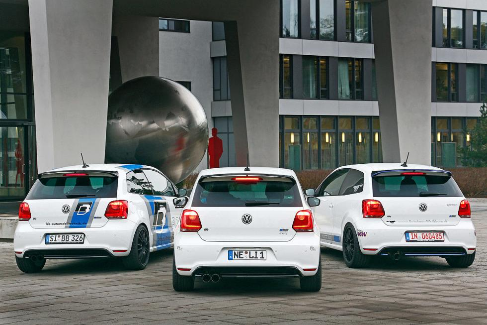 Tre VW Polo 'tuneados' traseras