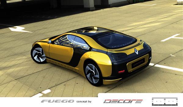 ¿Te recuerda a otro modelo el Renault Fuego propuesto por Idecore?
