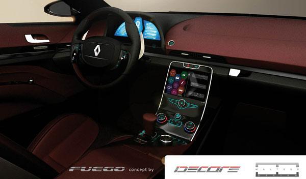 El interior del Renault Fuego del futuro es muy Renault