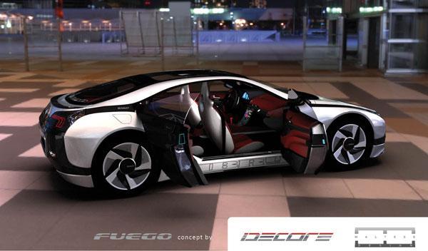 El Renault Fuego de Idecore prescindiría del pilar B
