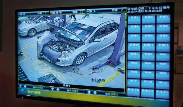 monitorización coche en taller china