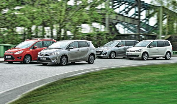 Comparativa entre Grand C-Max, Mazda5, Verso y Touran