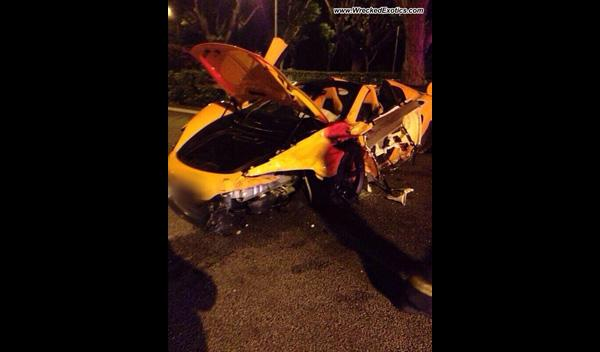 Accidente McLaren 650S Spider