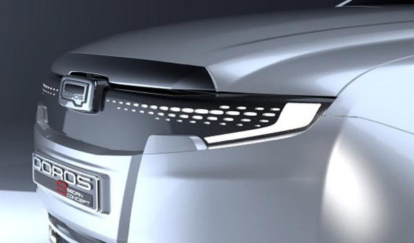 Qoros 9 Sedan Concept delantera