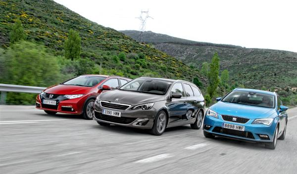 Comparativa Leon ST, Civic Tourer, 308 SW