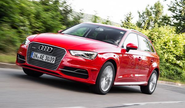Delantera del Audi A3 Sportback e-tron
