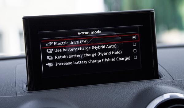 Modos de conducción del Audi A3 Sportback e-tron