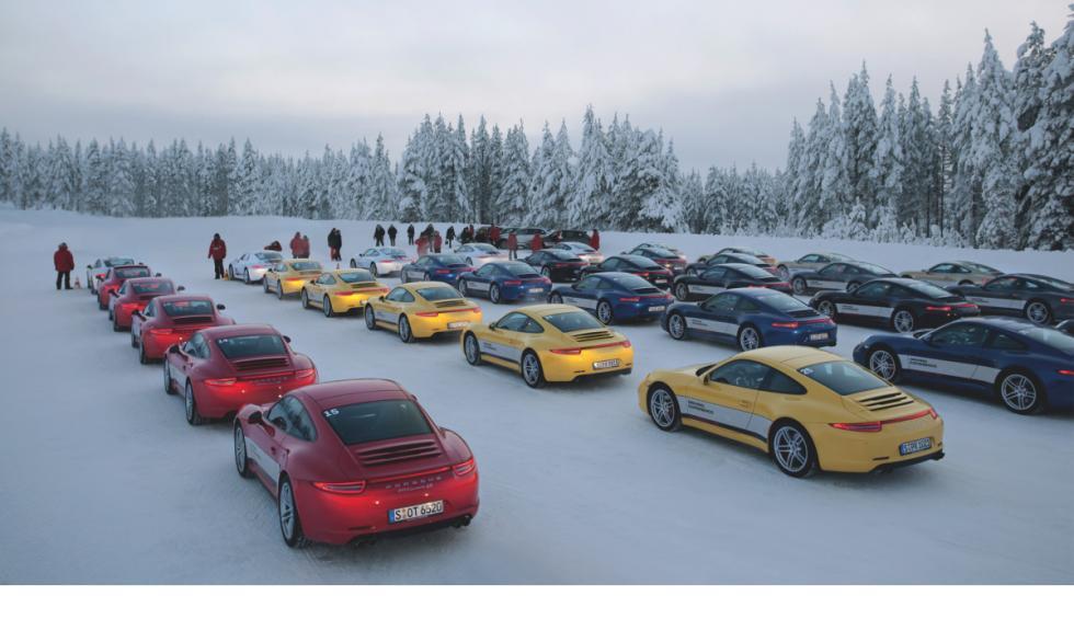 Porsche-nieve