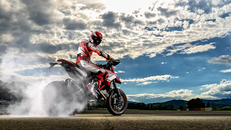 Ducati Hypermotard SP 2015 quemada