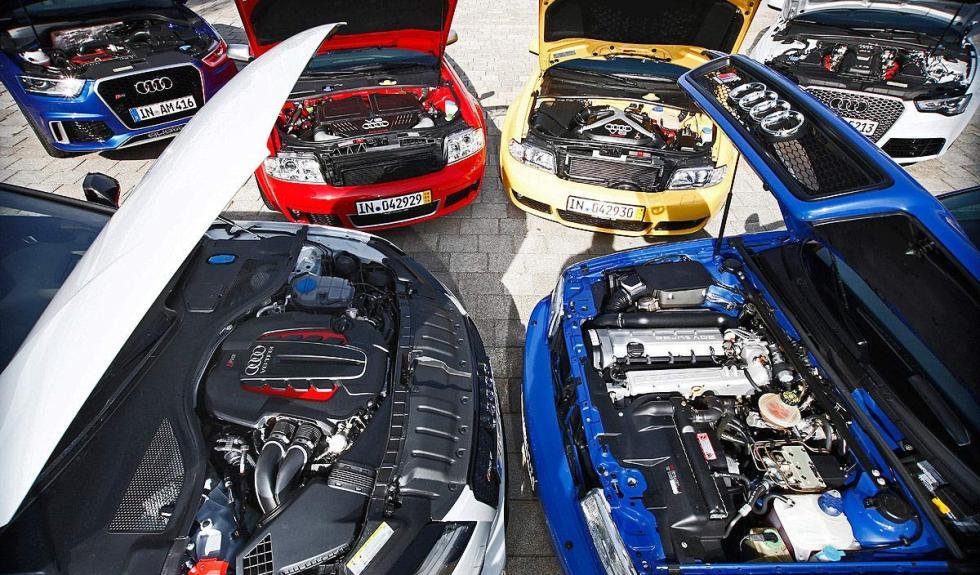 Motores de los seis Audi RS más radicales