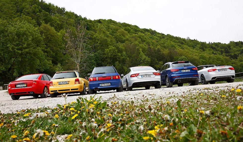 Traseras de los seis Audi RS más radicales