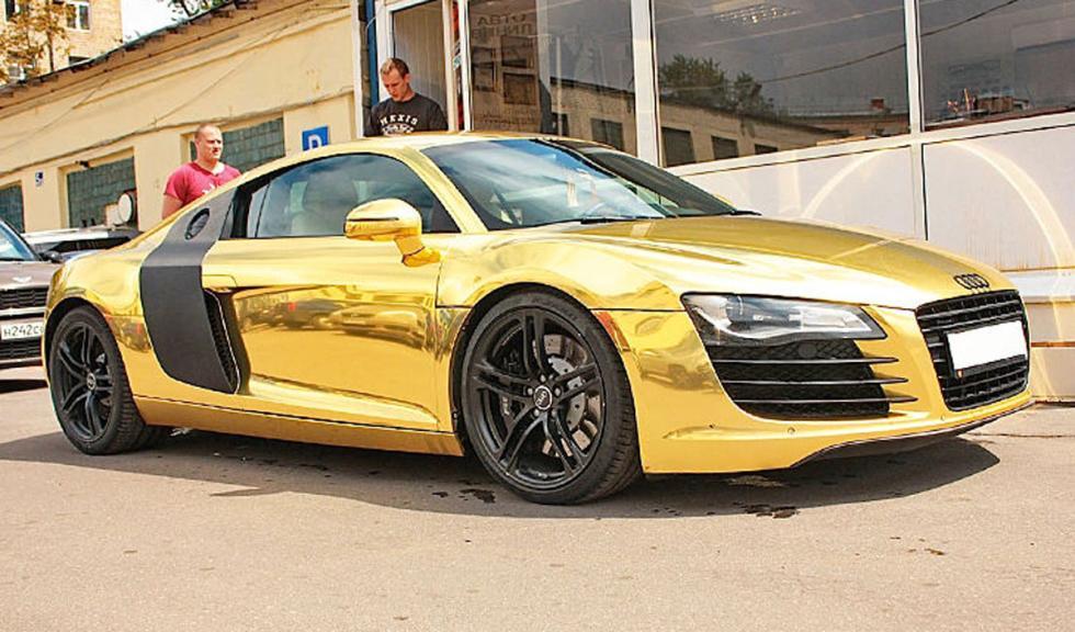 Audi R8 bañado en oro