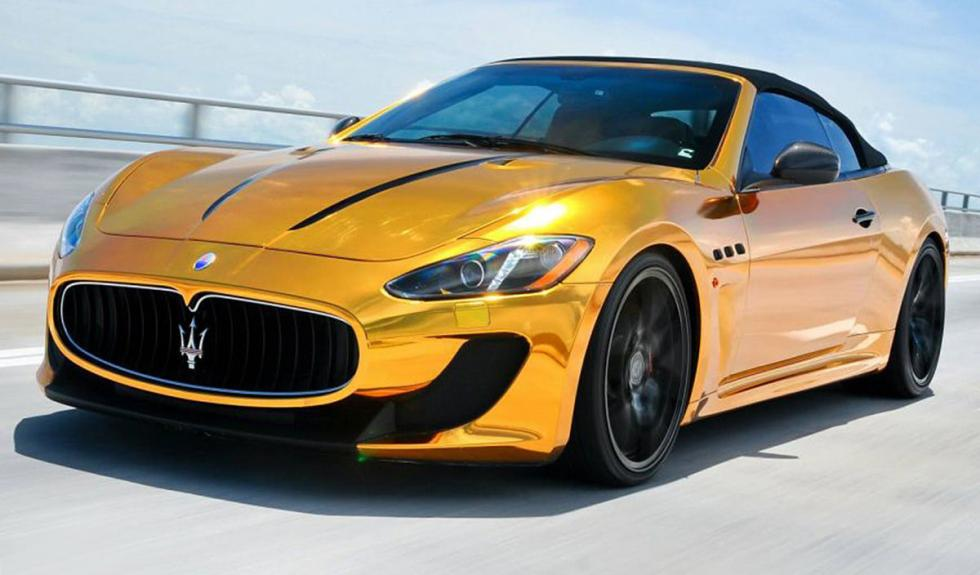 Maserati Gran Turismo bañado en oro