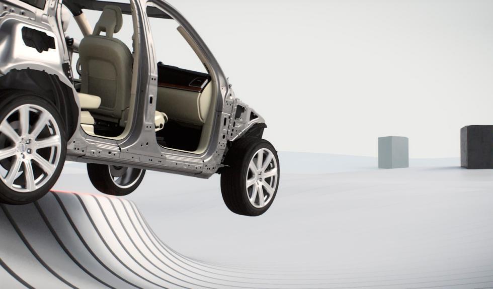 Volvo XC90 seguridad al salir de la vía