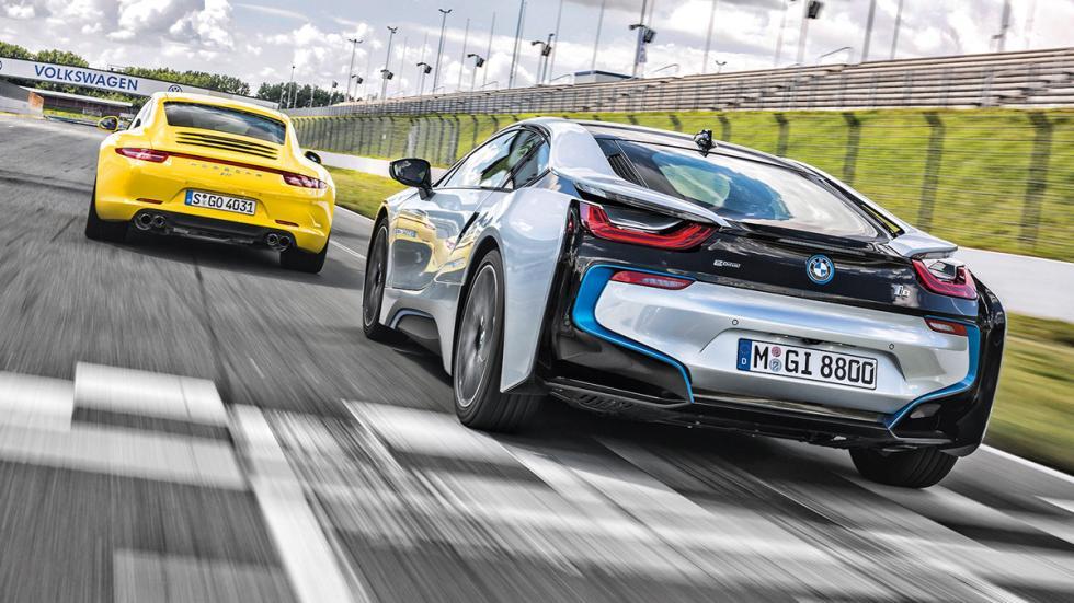 Prueba cara a cara BMW i8 Porsche 911