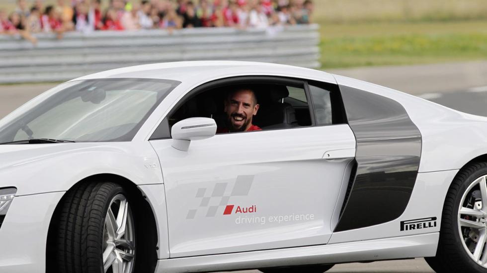Jugadores Bayern de Múnich coches Audi Franck Ribéry