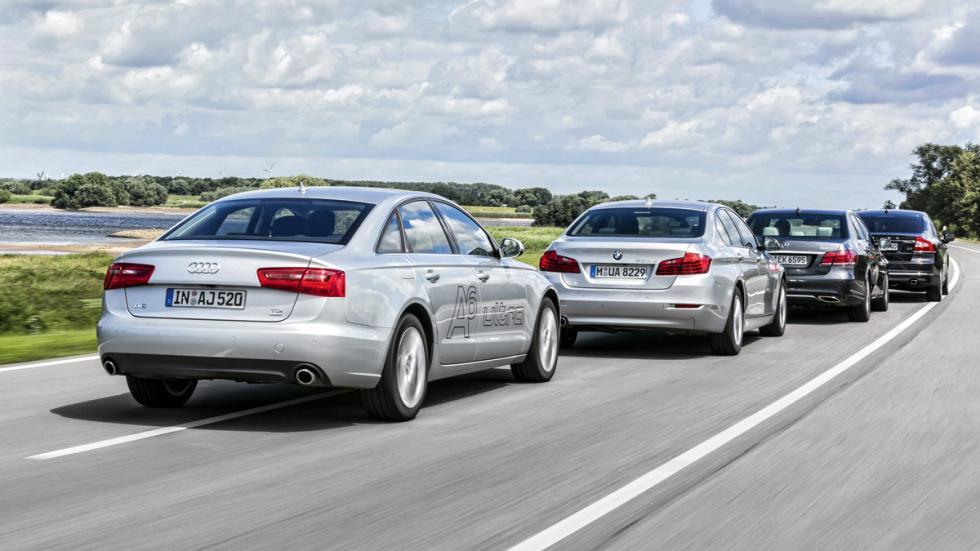 Audi A6-BMW 520d-Mercedes E220-Volvo S80