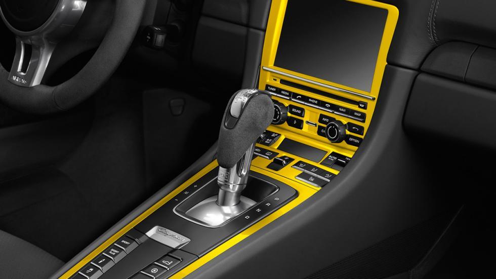 Porsche Cayman S Yellow Racing consola