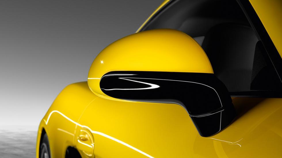 Porsche Cayman S Yellow Racing espejos
