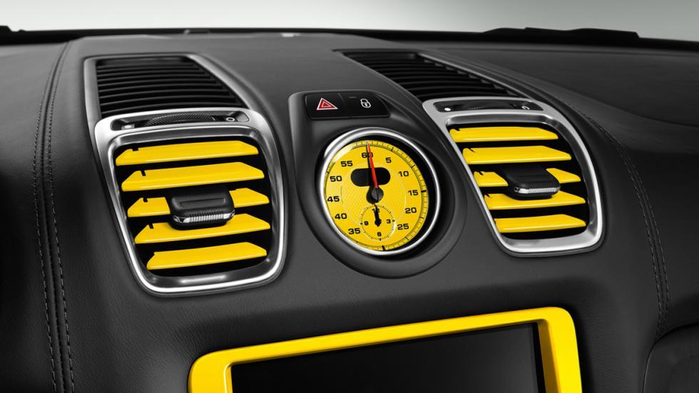 Porsche Cayman S Yellow Racing interior