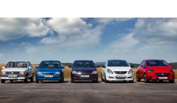 Opel Corsa 2015 generaciones