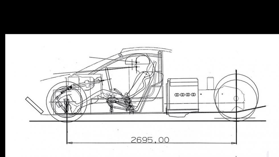 Audi GT1 Race Car boceto