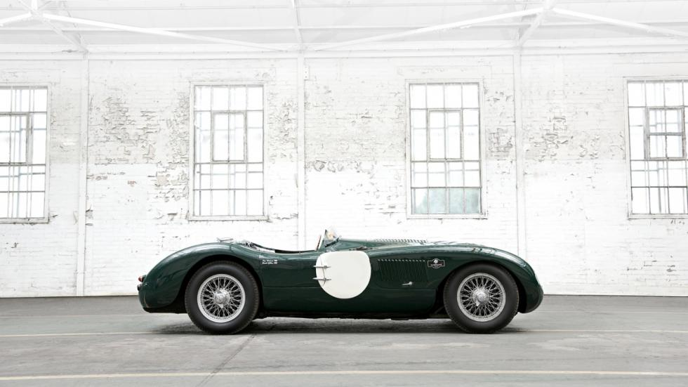 Jaguar C-type de 1953, vista lateral