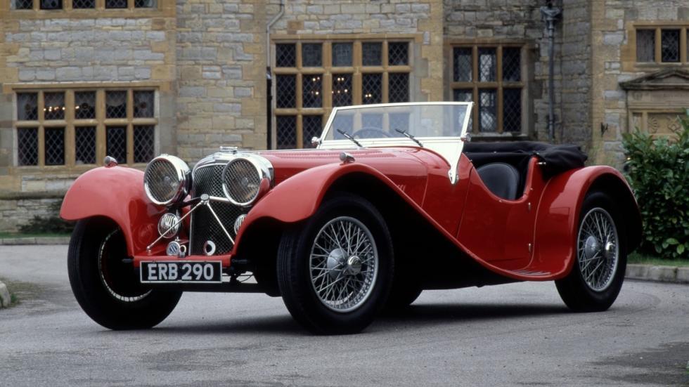 Jaguar SS100 de 1936 lateral