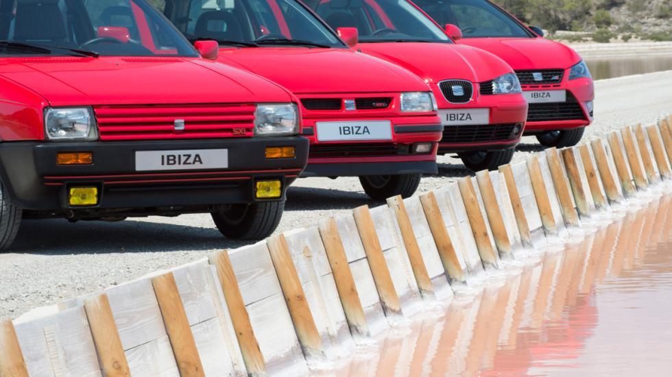 Seat Ibiza cuatro generaciones