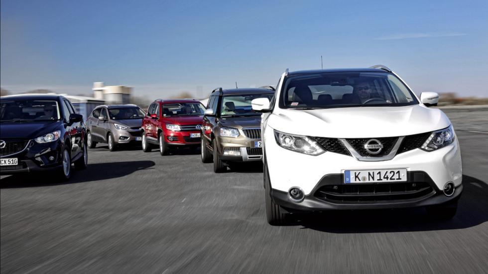 Nissan Qashqai/Hyundai ix35/Skoda Yeti/Mazda CX-5/VW Tiguan frontales