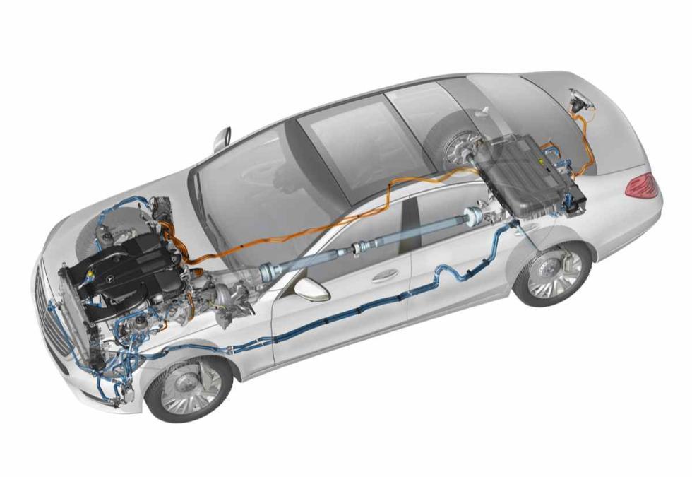 Mercedes S 500 Plug-In Hybrid esquema eléctrico