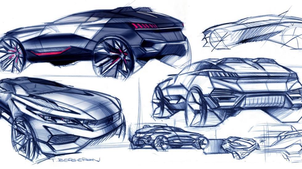 Bocetos del Concept Peugeot Quartz