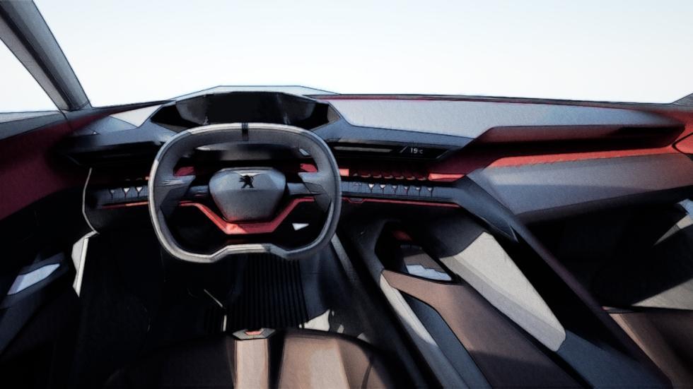 Concept Peugeot Quartz habitáculo