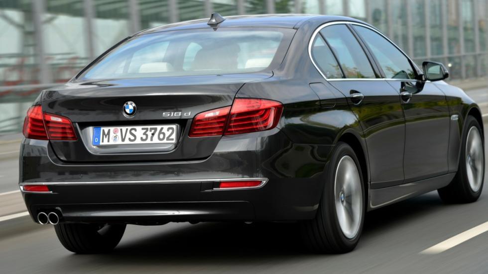 Nuevos BMW 518d y 520d trasera