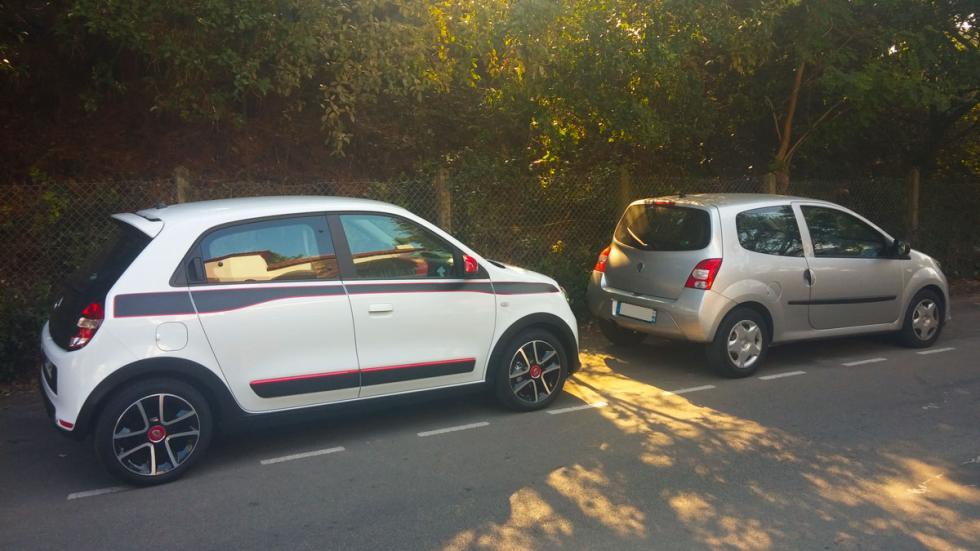 Renault Twingo 2015 antiguo nuevo