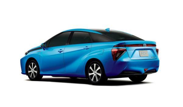 Vista lateral del Toyota FCV