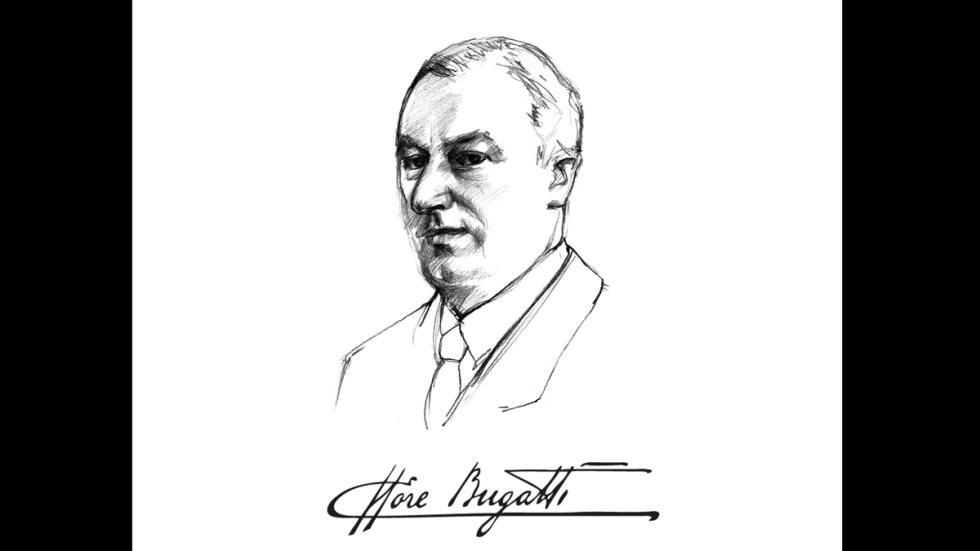 Retrato de Ettore Bugatti