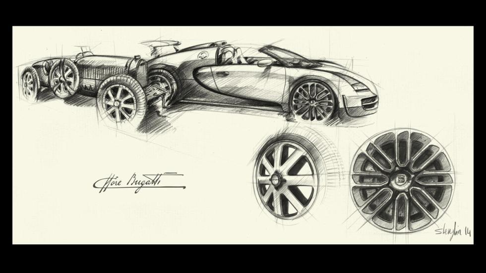 Diseño de las llantas del Bugatti Veyron edición Ettore Bugatti